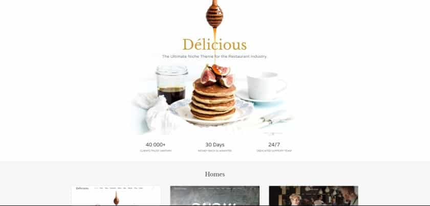 Bluehost example - Delicious website