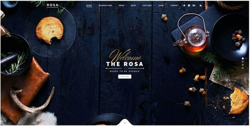 Bluehost example - Rosa website