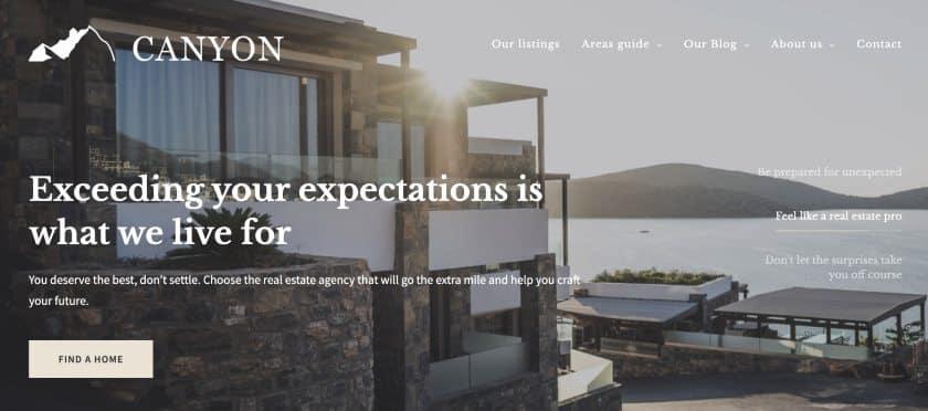 Canyon - Sample Placester_website design