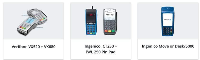 Screenshot of Chase Merchant card readers