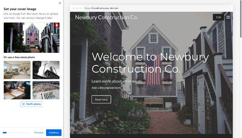 Adding cover image in Constant Contact builder