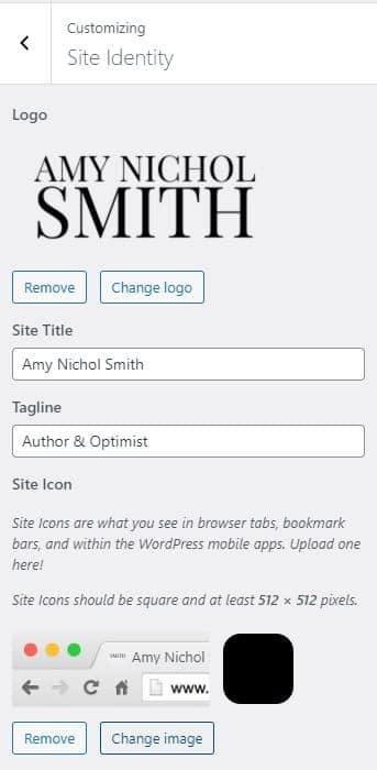 Customizing Site Identity in WordPress
