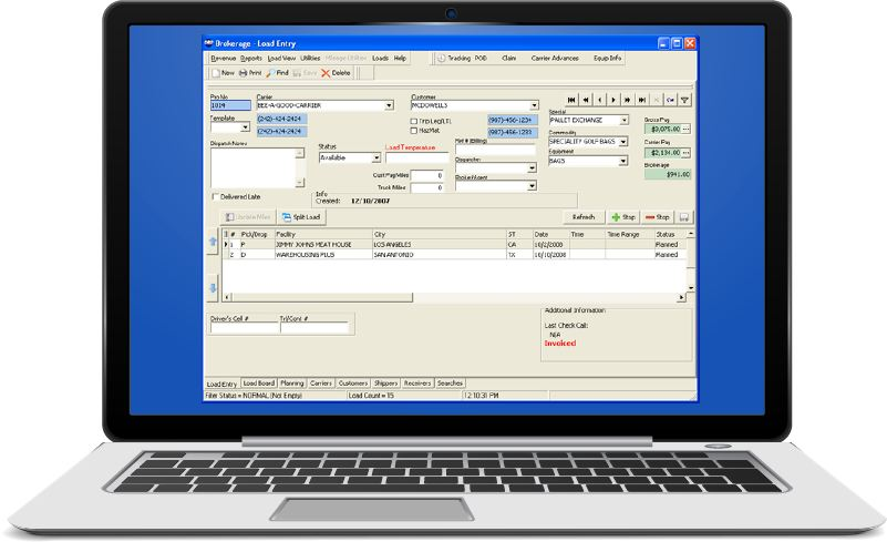 Screenshot of Dr Dispatch computer and online versions