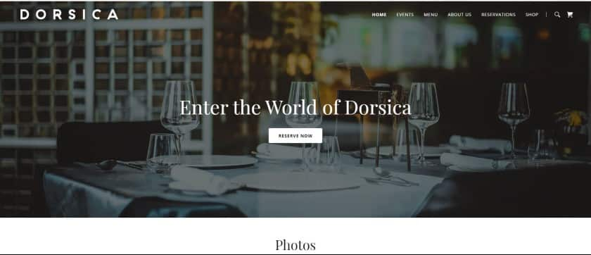 GoDaddy example - Dorsica website