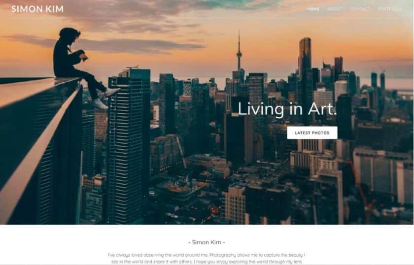 GoDaddy website example - Simon Kim