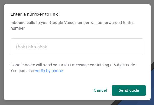 Google Voice six digit code verification