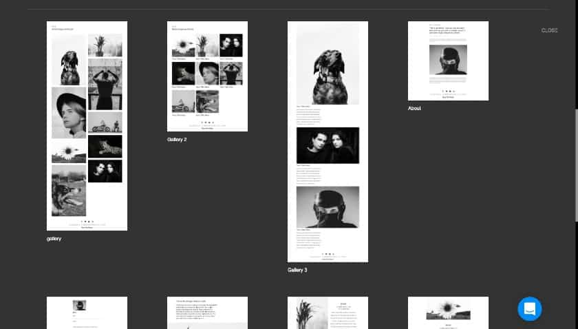 IM Creator site builder page layouts