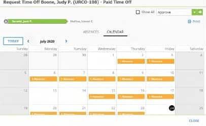 Screenshot of SentricHR unboarding manager dashboard