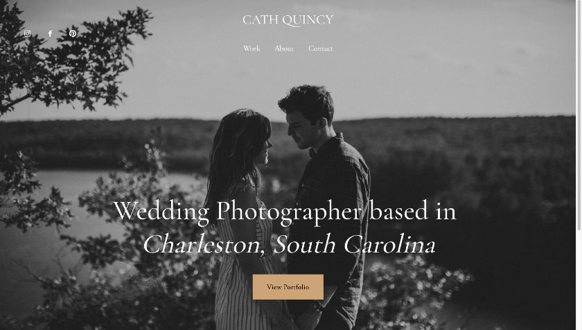 Squarespace example - Cath Quincy website