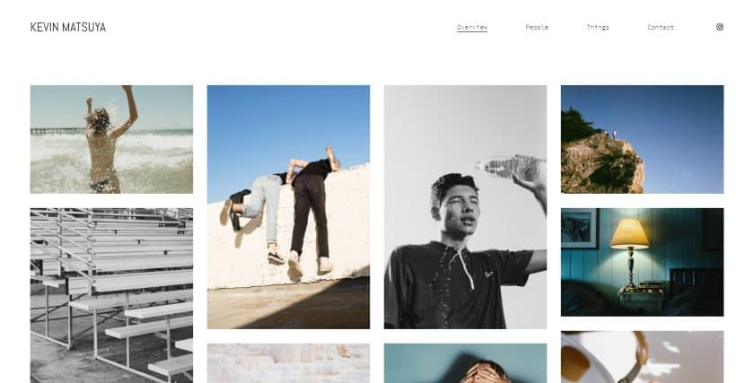 Squarespace example - Kevin Matsuya website