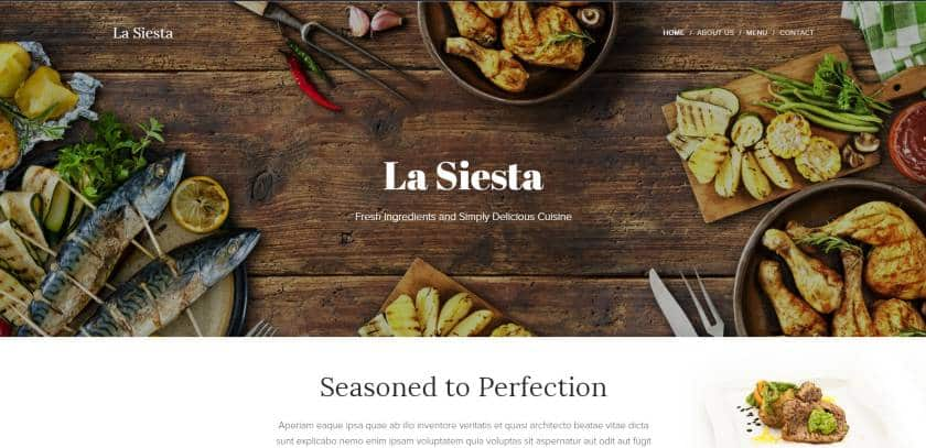 Webnode example - La Siesta website