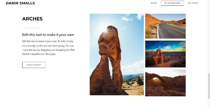 Weebly example - Darin Smalls website