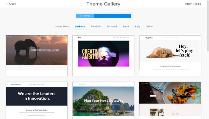Weebly Website Builder Theme Gallery