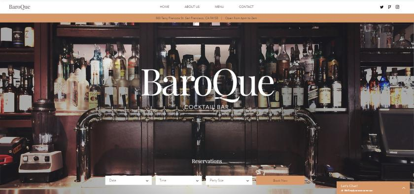 Wix example - BaroQue Website