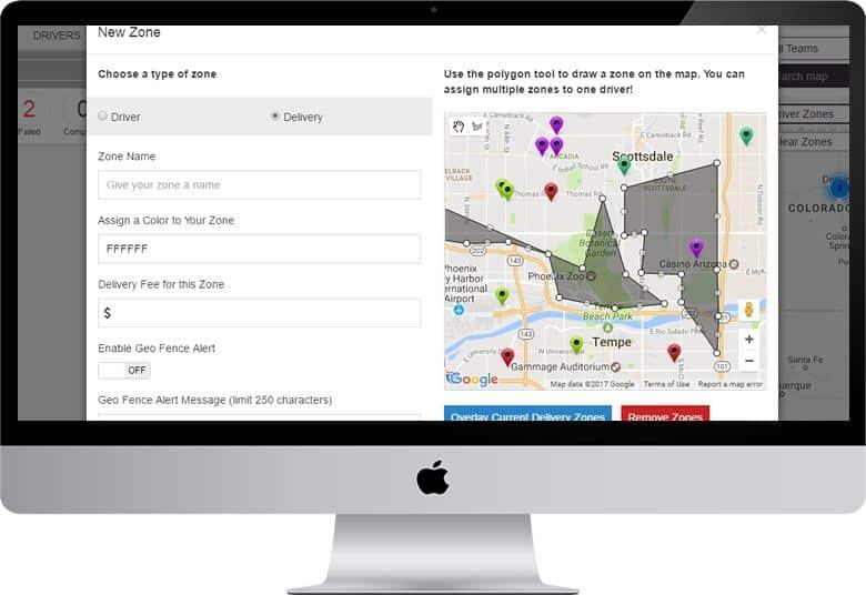 Screenshot of Zippykind creating new zone dashboard