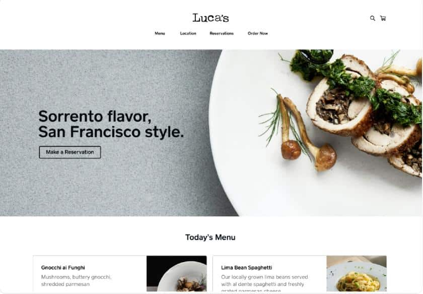 Screenshot of Free Square Website Template Example