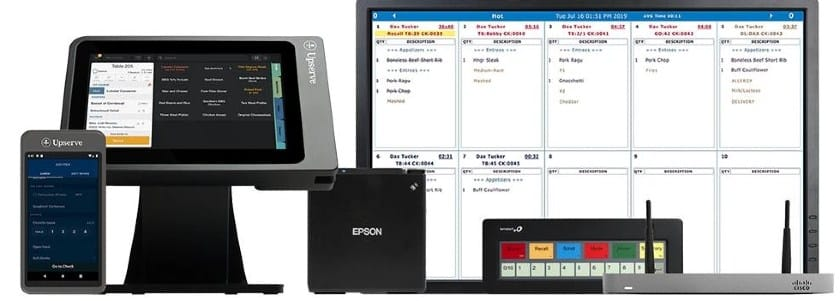 Screenshot of Upserve Countertop and Mobile POS Options