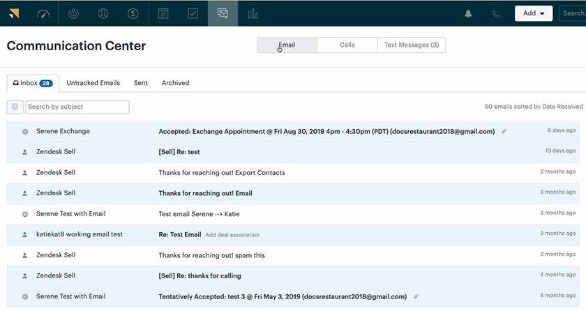 Screenshot of zendesk inbox dashboard