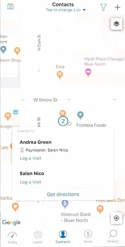 Screenshot of zendesk mobile_app detects nearby prospects