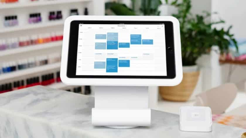 Square Appointments POS on top of a table
