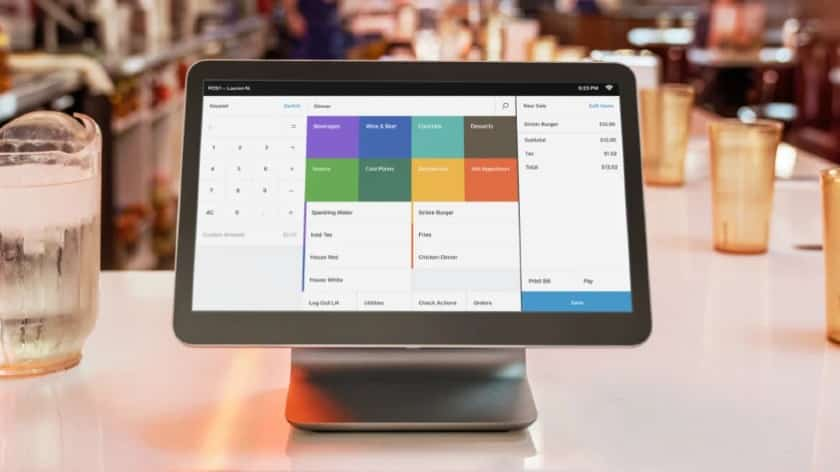 Square for Restaurants POS on top of a table