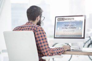 build website interface using a desktop computer