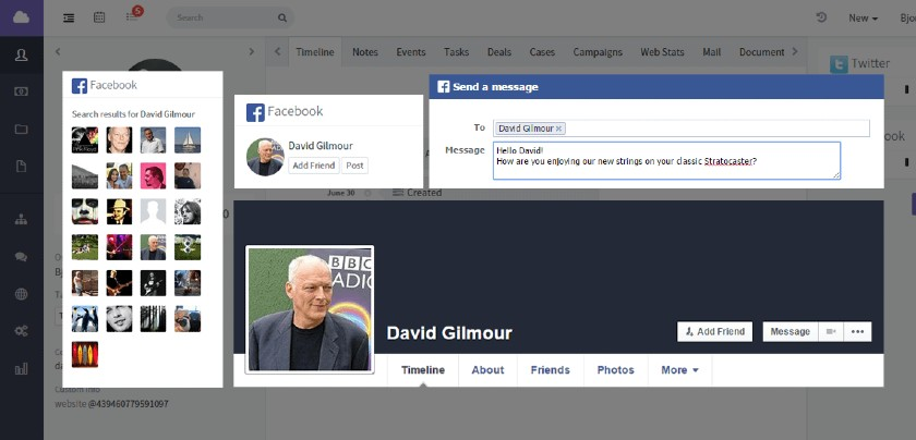 Agile CRM and Facebook integration