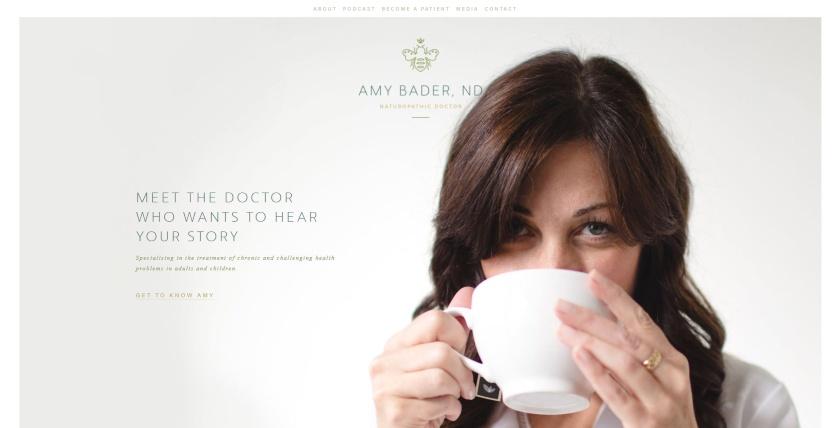 Amy Bader ND website