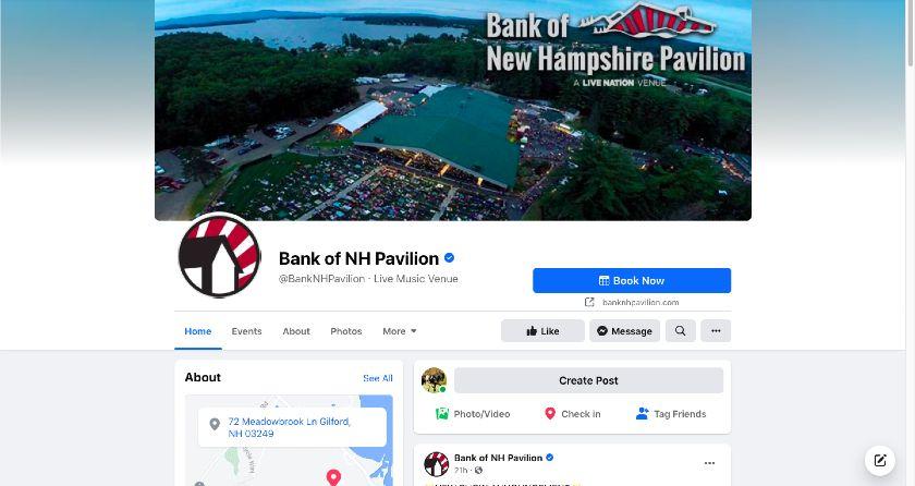 Bank of NH Pavilion Facebook page