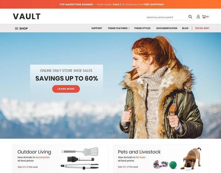 Screenshot of BigCommerce free website theme