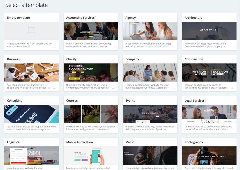 Bitrix24 Select Website Templates