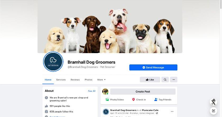 Bramhall Dog Groomers Facebook page