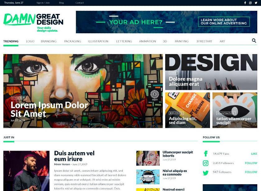 Damn Great Design website