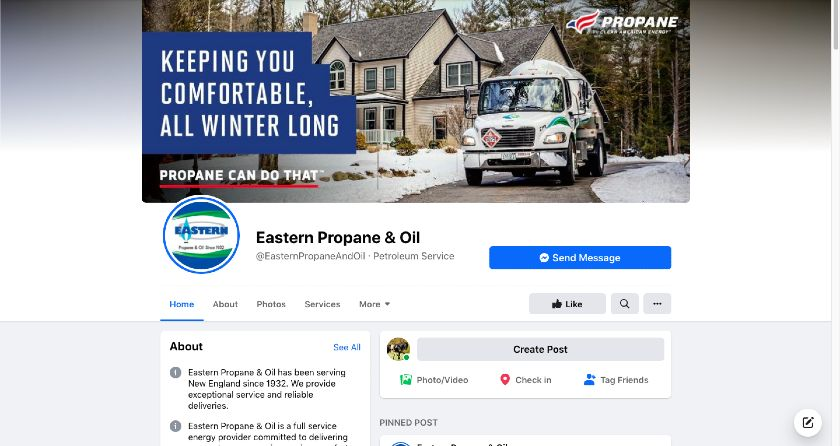 Eastern Propane and Oil Facebook page