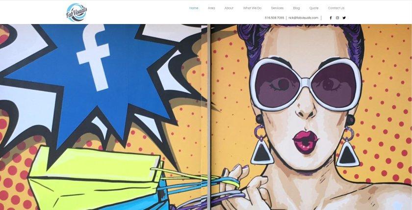 Fab Visuals website