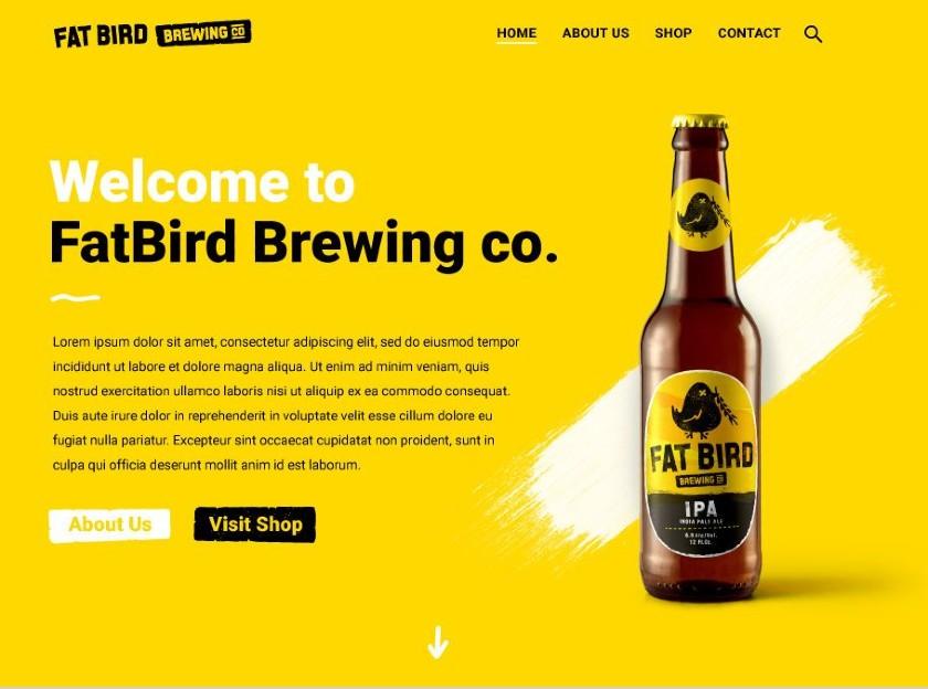 Fat Bird Brewing CO website
