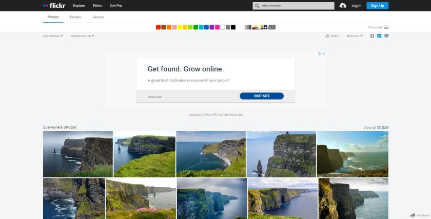 search result on cliffs of moher photos