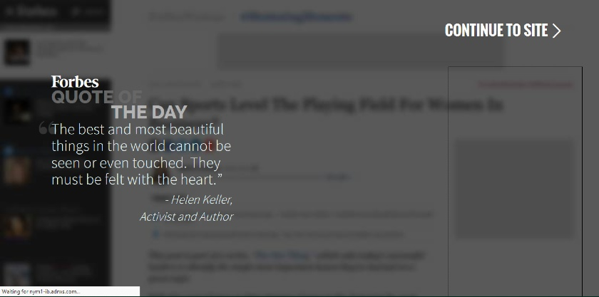 Forbes Quote of the Day
