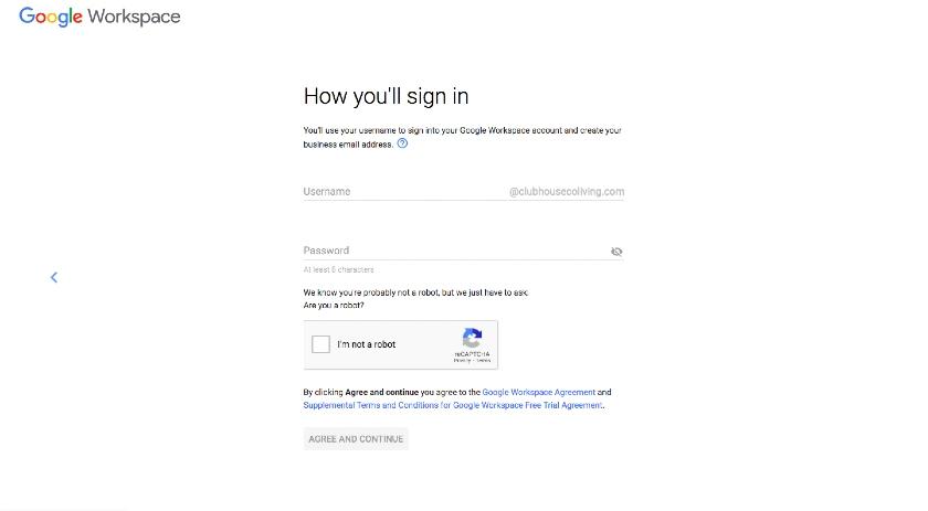 Google Workspace business email address setup