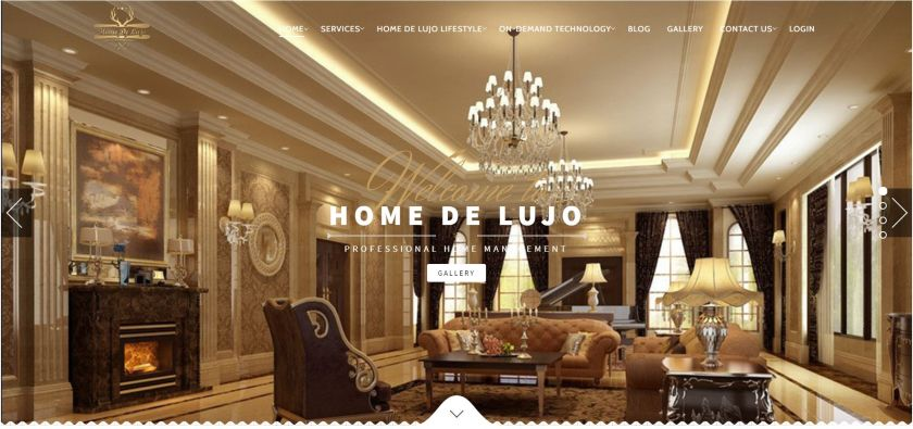 Home De Lujo website