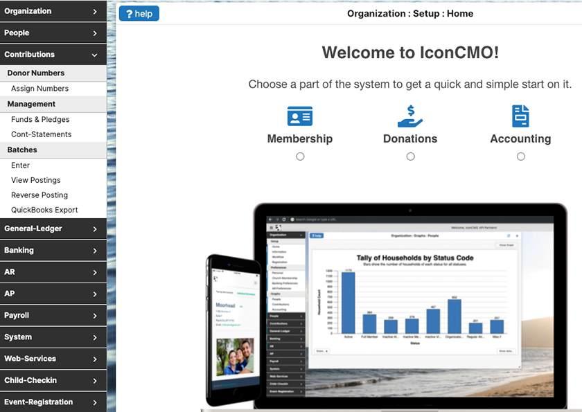 Screenshot of IconCMO Homepage