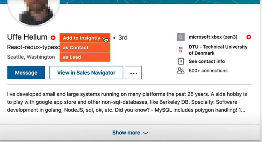 Insightly and LinkedIn LinkMatch Integration