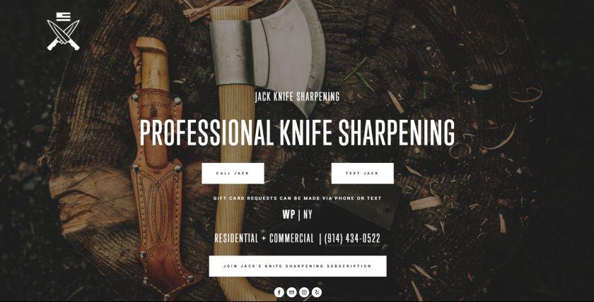 Jack Knife Sharpening website