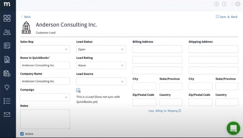Method:CRM Customer Leads