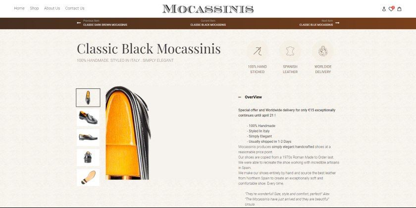 Mocassinis website