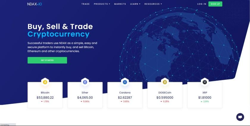 NDAX.io website