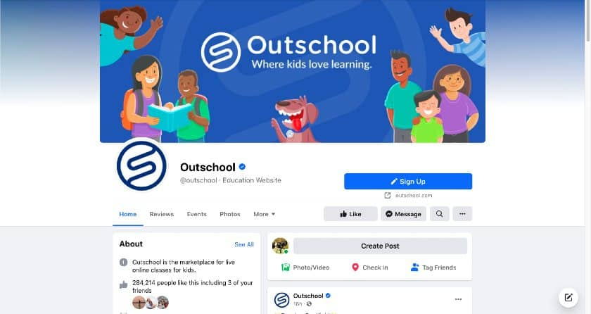 OutSchool Facebook page