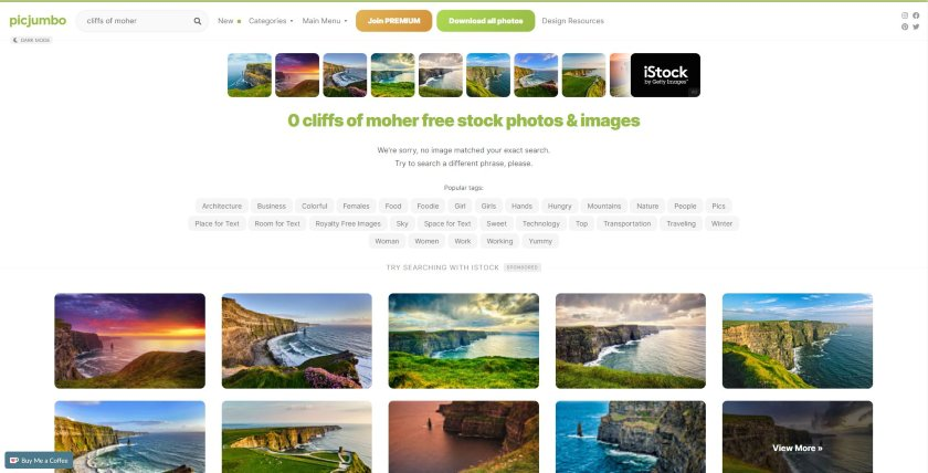 Picjumbo search result on cliffs of moher photos
