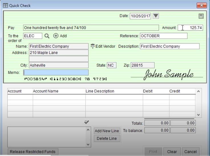 Screenshot of PowerChurch Plus Printing Check