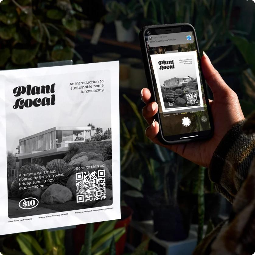 QR codes for a contactless online payment